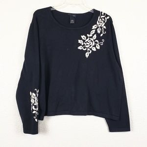Lane Bryant decorative black/white sweater